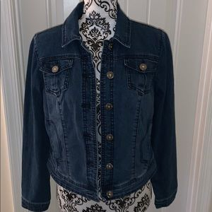 NWOT. Lightweight High Low Jean Jacket
